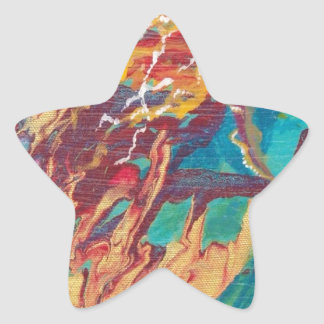 Mardi Gras Angel Star Sticker