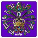 Mardi Gras Argos-Argus Eyes Important view notes Clock