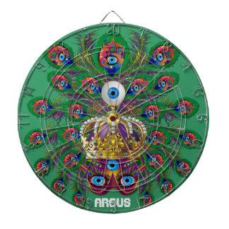 Mardi Gras Argos-Argus Eyes Important view notes Dartboard With Darts