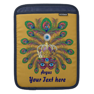 Mardi Gras Argos-Argus Eyes Important view notes Sleeve For iPads