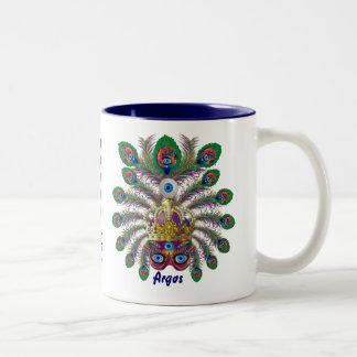 Mardi Gras Argos-Argus Eyes Important view notes Two-Tone Coffee Mug