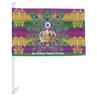 Mardi Gras Argus HOT Read Description Below Car Flag