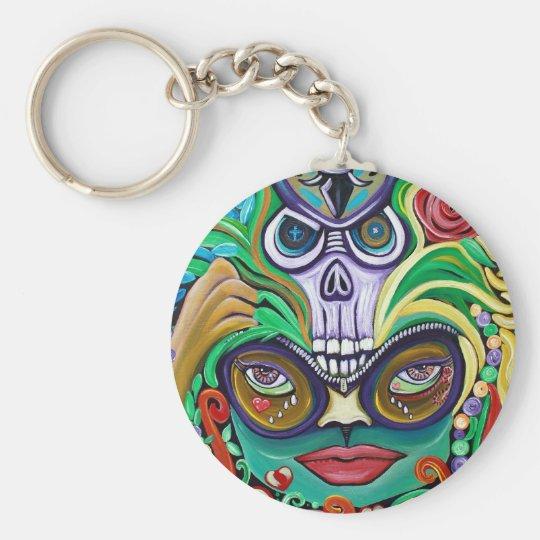 Mardi Gras Art Keychain