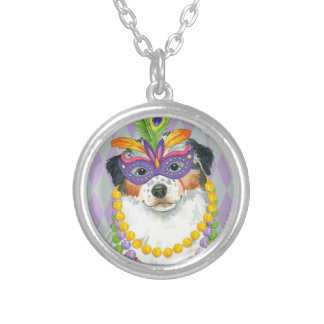 Mardi Gras Aussie Silver Plated Necklace