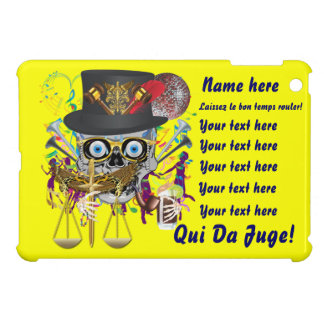 Mardi Gras Award Plaque Gift notes view iPad Mini Cover
