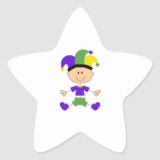 MARDI GRAS BABY STAR STICKER
