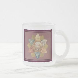 Mardi Gras Ball Vintage Favor Frosted Glass Coffee Mug