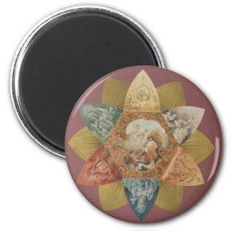 Mardi Gras Ball Vintage Favor Fridge Magnet