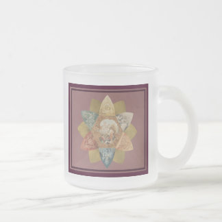 Mardi Gras Ball Vintage Favor 10 Oz Frosted Glass Coffee Mug