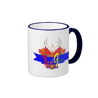 Mardi Gras Banner Coffee Mugs