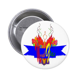 Mardi Gras Banner Pinback Button