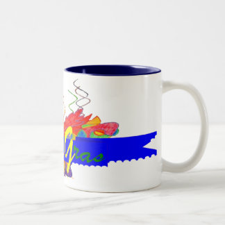 Mardi Gras Banner Two-Tone Coffee Mug