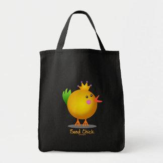 Mardi Gras Bead Chick (gold) Canvas Bag