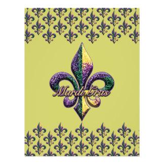 Mardi Gras bead Fleur de lis 2 Flyer