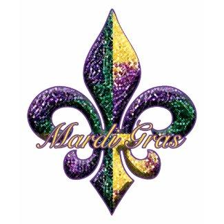 Mardi Gras bead Fleur de lis 2 shirt