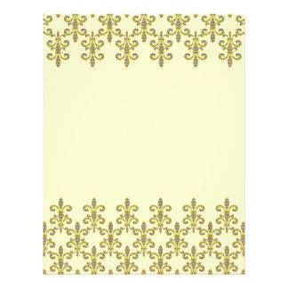 Mardi Gras bead Fleur de lis Letterhead Design