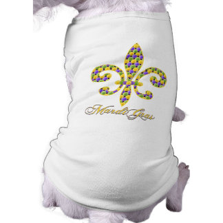 Mardi Gras bead Fleur de lis Shirt