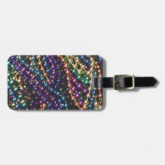 mardi gras beads 2 luggage tag
