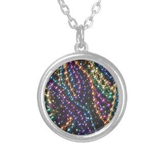 mardi gras beads 2 round pendant necklace