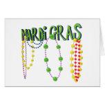 Mardi Gras Beads Card