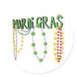Mardi Gras Beads Classic Round Sticker