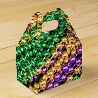 Mardi Gras Beads Favor Box