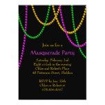 "Mardi Gras Beads Invitation 5"" X 7"" Invitation Card"