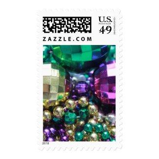 Mardi Gras Beads Large Beads Postage Stamp