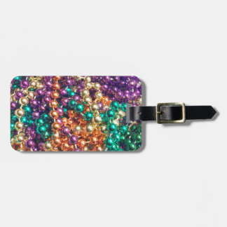 Mardi Gras Beads Travel Bag Tags
