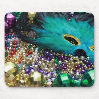 Mardi Gras Beads & Mask Mousepad