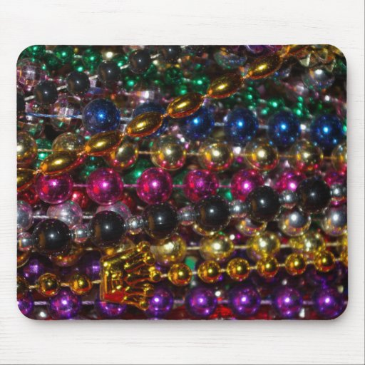 Mardi Gras beads mousepad