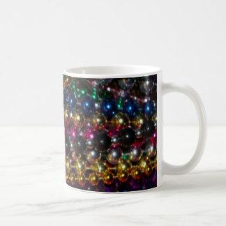 Mardi Gras beads mug template