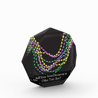 Mardi Gras Beads Necklaces Acrylic Award