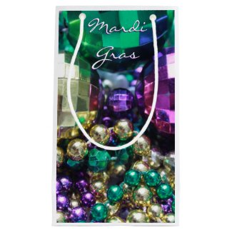 Mardi Gras Beads Party Favor Gift Bags Small Gift Bag