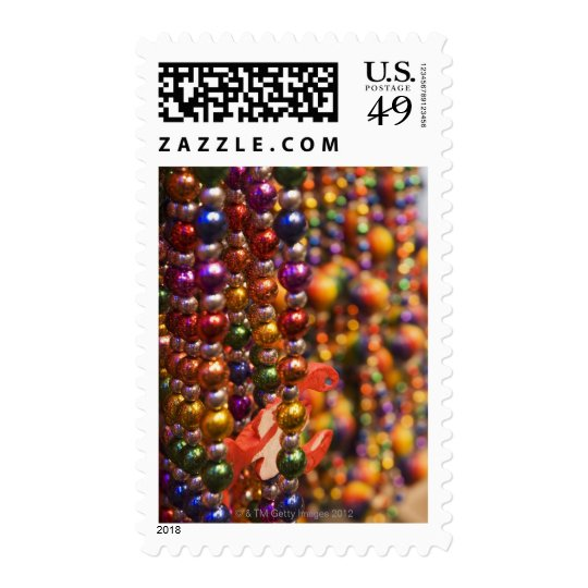 Mardi Gras beads Postage