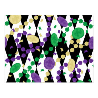 Mardi Gras Beads Postcard