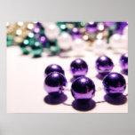 Mardi Gras Beads Posters