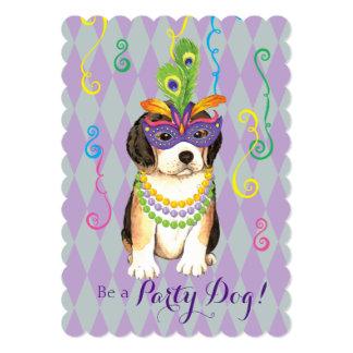 Mardi Gras Beagle Card