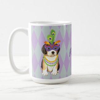 Mardi Gras Beagle Coffee Mug