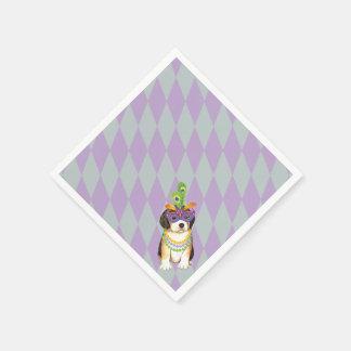 Mardi Gras Beagle Napkin