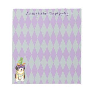 Mardi Gras Beagle Notepad