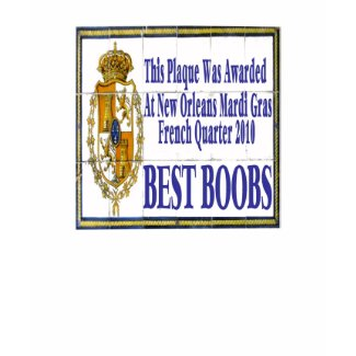 Mardi Gras Best Boobs Tile shirt