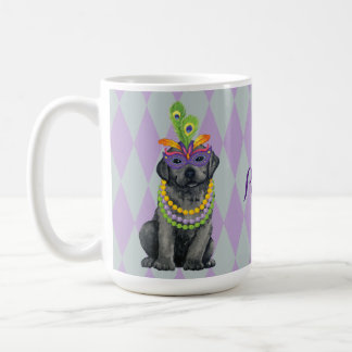 Mardi Gras Black Lab Coffee Mug