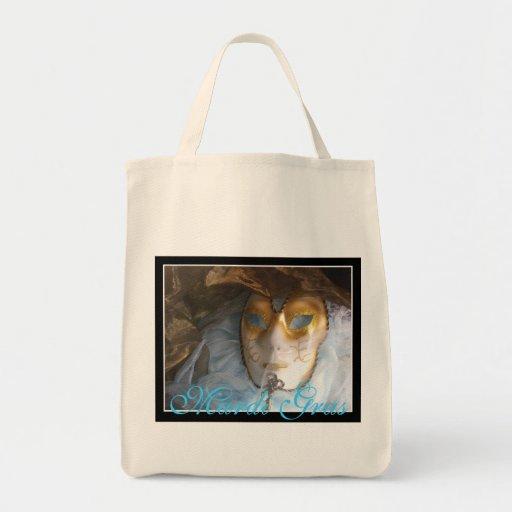 Mardi Gras Bleu Grocery Tote Bag