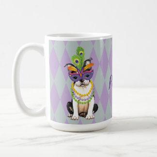 Mardi Gras Boston Terrier Coffee Mug