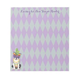 Mardi Gras Boston Terrier Notepad