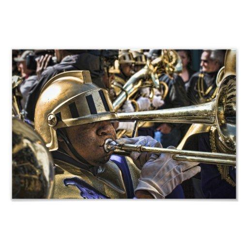 Mardi Gras Brass Band Photographic Print
