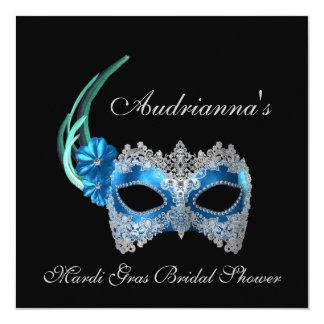 """""""Mardi Gras Bridal Shower"""" Card"""