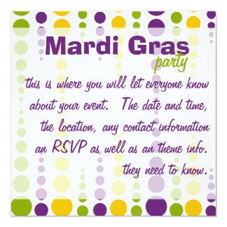 Mardi Gras Bubble Dots Card