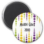 Mardi Gras Bubble Dots Magnet